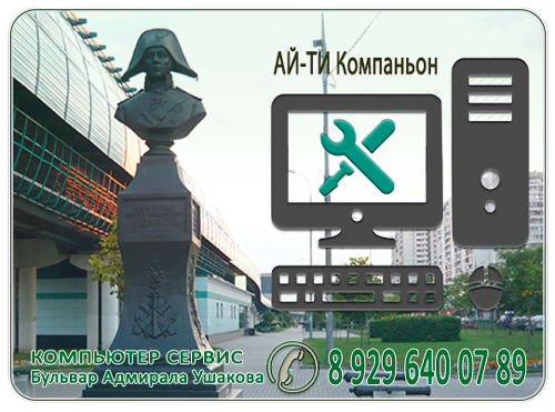 Компьютерная помощь район метро Бульвар Адмирала Ушакова
