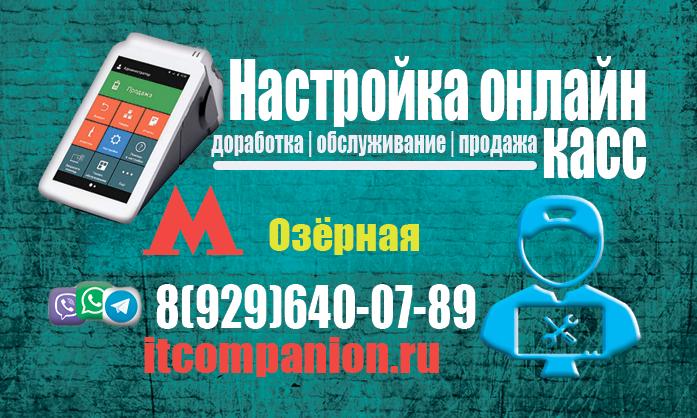 Кассовый сервис метро Озёрная