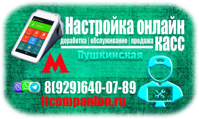 Мастер по обслуживанию онлайн касс в районе метро пушкинская